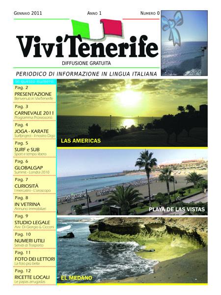 Vivi Tenerife numero 0 Anno 1 di Gennaio 2010