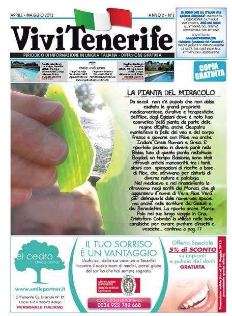 Vivi Tenerife numero 2 Anno 2 di Aprile Maggio 2012