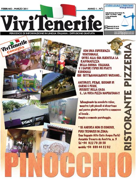 Vivi Tenerife numero 1 Anno 1 di Febbraio Marzo 2011