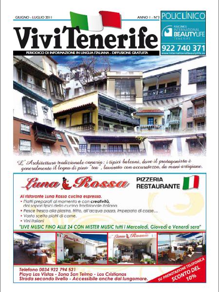 Vivi Tenerife numero 3 Anno 1 di Giugno Luglio 2011
