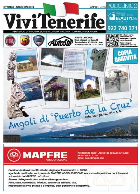Vivi Tenerife numero 5 Anno 1 di Ottobre Novembre 2011