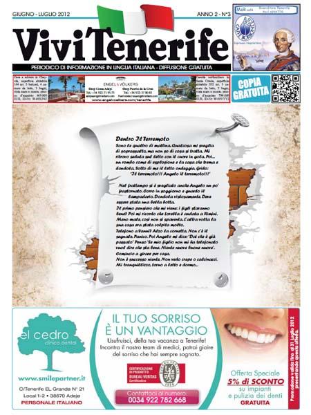 Vivi Tenerife numero 3 Anno 2 di Giugno Luglio 2012
