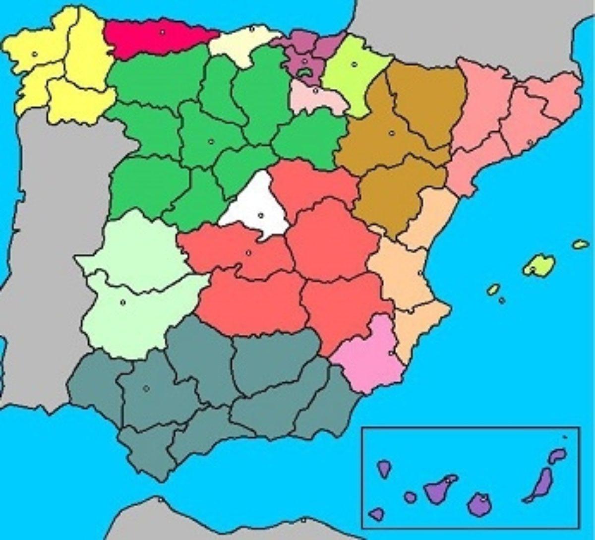 Tenerife Cartina Spagna.Le Canarie Finalmente Al Loro Posto Nelle Cartine Geografiche Della Spagna Vivilecanarie